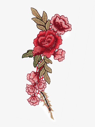 Sew On Rose Embroidery Applique - Style No N710