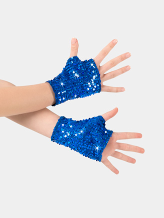 Adult Fingerless Sequin Mitts - Style No N7303