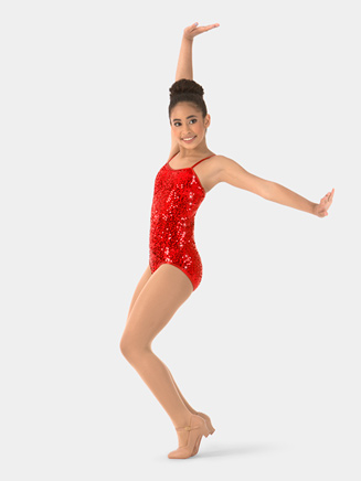 Child Sequin Camisole Performance Leotard - Style No N7309C