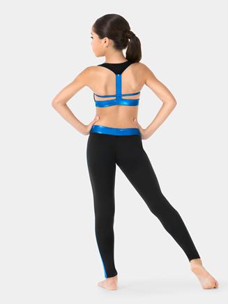 Girls Sleeveless Metallic Stripe Bra Top - Style No N7351C