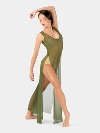 Adult Floor-Length Mesh Tank Dress - Style No N7603