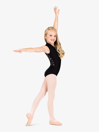 Girls Lace Back High Neck Tank Ballet Leotard - Style No N7642C