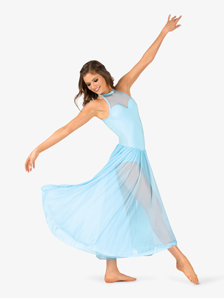 Womens Performance Sweetheart Mesh Halter Dress - Style No N7701