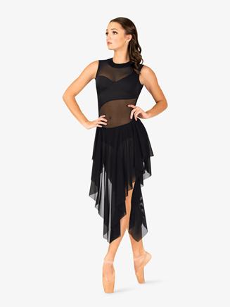Womens Performance Mesh Open Back Tank Dress - Style No N7705
