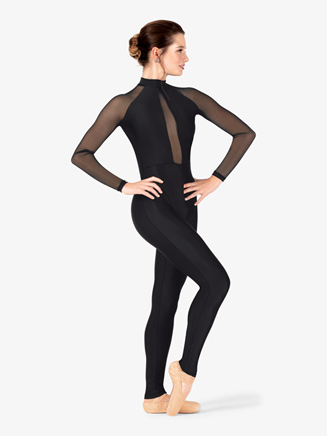 Womens Performance Mesh Long Sleeve Unitard - Style No N7767