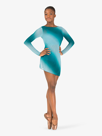 Womens Performance Ombre Mesh Long Sleeve Dress - Style No N7778