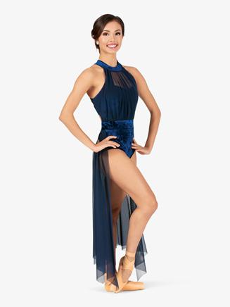 Womens Performance Velvet Open Front Dress - Style No N7786
