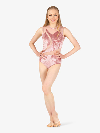 Womens Performance Velvet Spliced Tank Leotard - Style No N7788