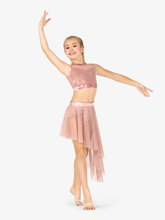 Girls Performance Velvet Band Skirt - Style No N7790C