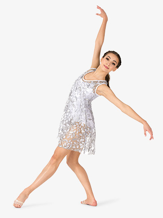 Womens Performance 3D Flower Mesh Tank Dress - Style No N7838