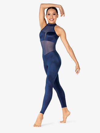 Womens Performance Satin Mesh Back Unitard - Style No N7850