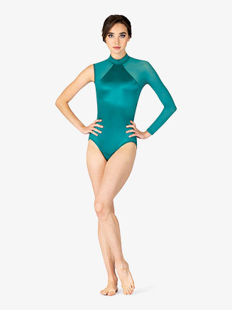 Womens Performance Satin One Sleeve Leotard - Style No N7857