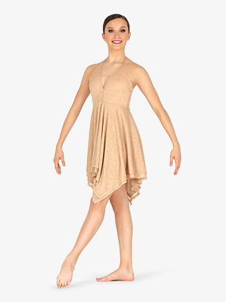 Womens Glitter High-Low Lyrical Dress - Style No N7865