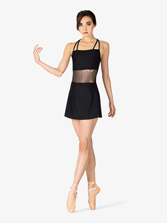 Womens Performance Ultra Sheen Mesh Waist Panel Camisole Dress - Style No N7886
