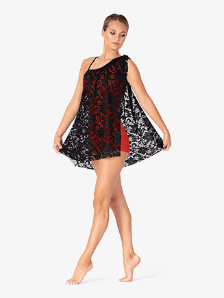 Womens Lace Asymmetrical Dance Dress - Style No N7889