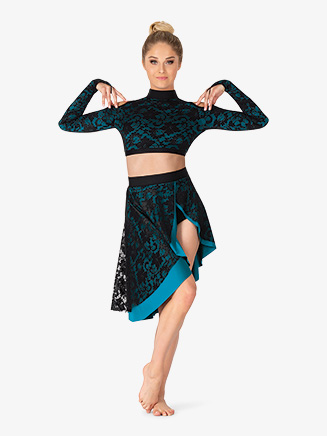 Womens Lace Double Layer Dance Skirt - Style No N7891
