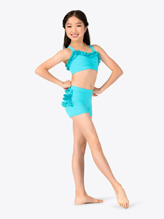 Child Dance Short with Lace Ruffles - Style No N8684C