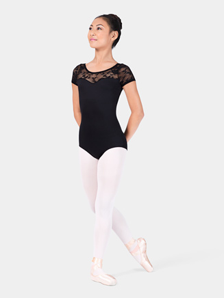 Adult Lace Short Sleeve Leotard - Style No N8774