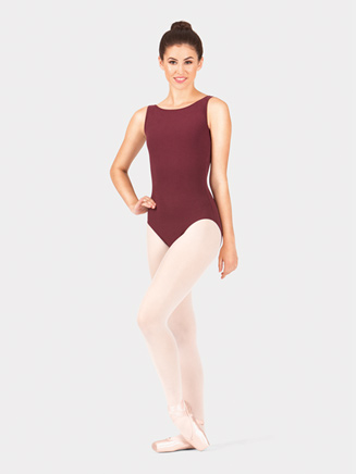Adult Cotton Boatneck Tank Leotard - Style No N8850