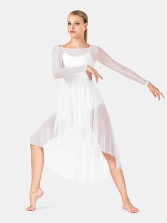 Adult Long Sleeve Mesh Lyrical Dress - Style No N8931