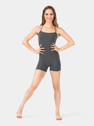 Adult Criss-Cross Back Camisole Shorty Unitard - Style No N8970x