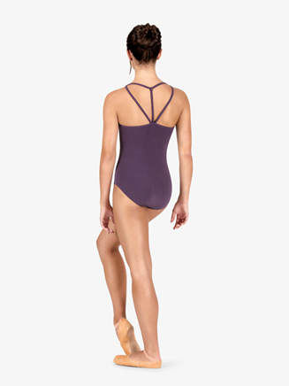 Studio Collection Womens Front Cutout Cotton Camisole Leotard - Style No N9019x