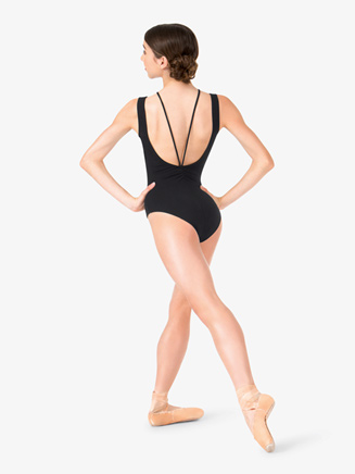 Studio Collection Womens Strappy Cotton Tank Leotard - Style No N9023x
