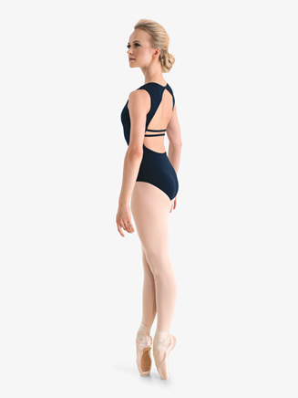 Studio Collection Womens Back Detail Cotton Tank Leotard - Style No N9024