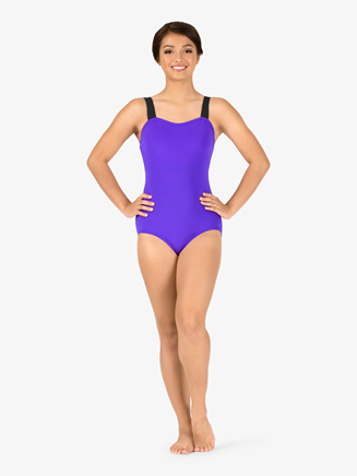 Adult Curvy Fit V-Back Camisole Leotard - Style No N9065x