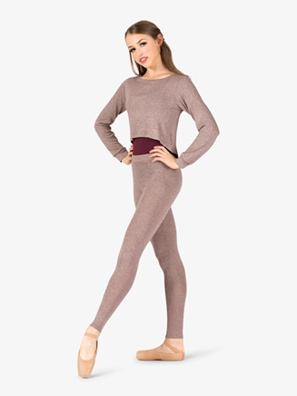 Womens Full Zipper Cropped Warm Up Sweater - Style No N9080
