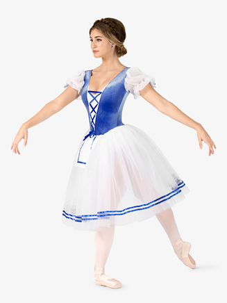 "Womens ""Swanhilda"" Short Sleeve Peasant Costume Dress - Style No N9096x"