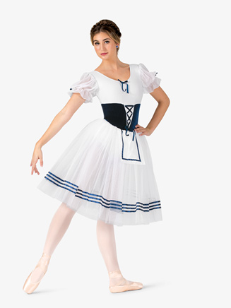 """Womens """"Giselle"""" Puff Short Sleeve Costume Dress - Style No N9097x"""