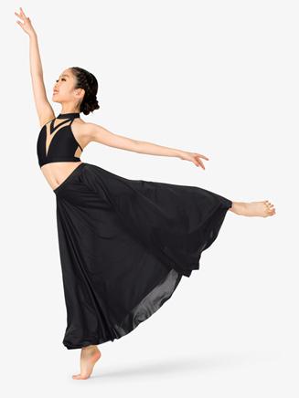 Girls Lyrical Flow Long Skirt - Style No N9112C