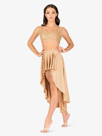 Womens Lyrical Flow High-Low Skirt - Style No N9113