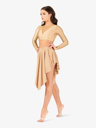 Womens Lyrical Flow Short Asymmetrical Skirt - Style No N9114