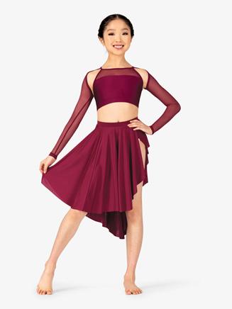 Girls Lyrical Flow Asymmetrical Skirt - Style No N9115C