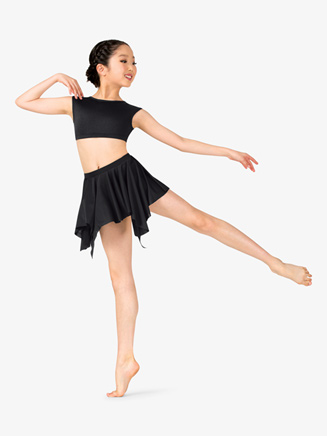 Girls Lyrical Flow Handkerchief Skirt - Style No N9116C