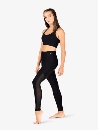 Womens Mesh Side Insert Fitness Leggings - Style No NA130