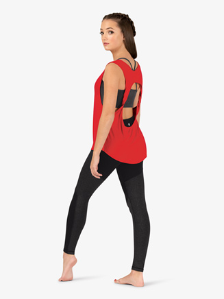 Womens Active Twist Back Cutout Tank Top - Style No NA151
