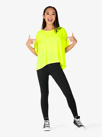 Womens Boxy Short Sleeve Dance Top - Style No NA8881