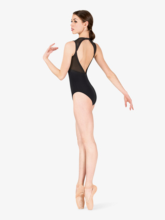 Womens Mesh Open Back Tank Leotard - Style No NC8920