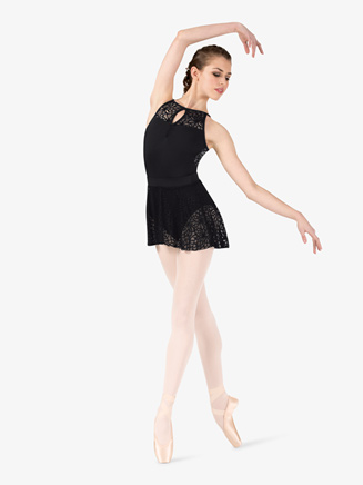 "Womens ""Kaleidoscope"" Mesh Pull-On Ballet Skirt - Style No NC8924"