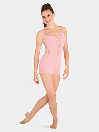 Womens Tiler Peck Lace Tank Dance Shorty Unitard - Style No P1100