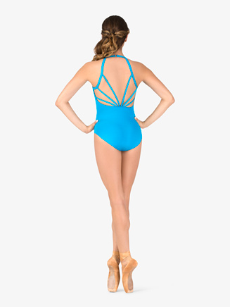 Womens Open Strappy Back Camisole Leotard - Style No P871x