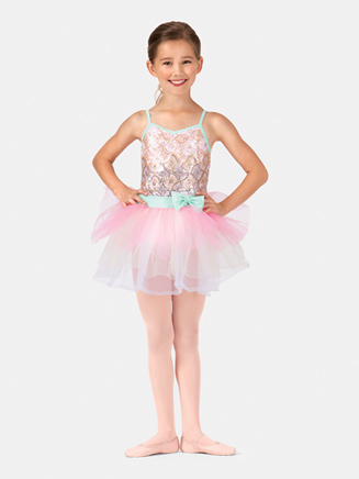 Girls Camisole Starburst Tutu Costume Dress - Style No PB2002C