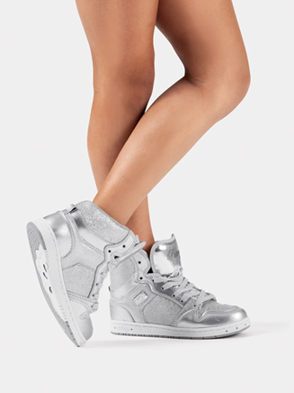 Kids Silver Glam Pie Glitter Sneakers - Style No PK143302