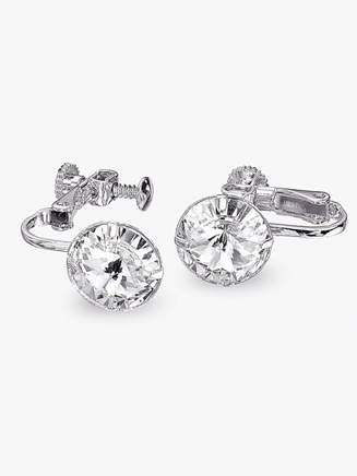 Rhinestone 10mm Clip-On Earrings - Style No REC10