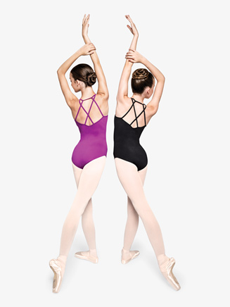 "Womens ""Determined"" Crisscross Back Camisole Leotard - Style No RPCC001x"