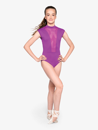 "Womens ""Strong"" Mesh Open Back Cap Sleeve Leotard - Style No RPFC07"