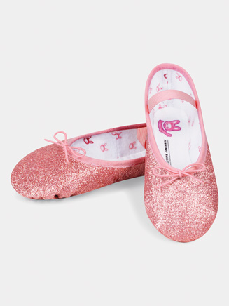 Girls Full Sole Glitterdust Ballet Slipper - Style No S0225GG
